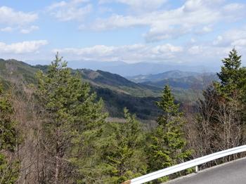 平谷峠から見る売木村