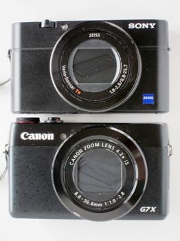 DSC-RX100M3もG7Xも同じようなサイズ