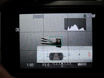 G7X Mark2でリアモニターに表示させたところ