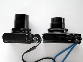 レンズ繰り出し量はDSC-RX100M3の方が少し長い