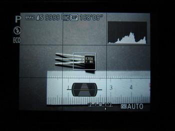 G7Xでリアモニターに表示させたところ