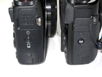 両機種の右側面