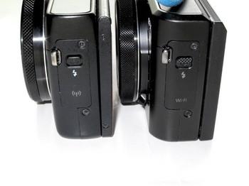 両機種の左側面