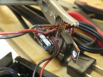 6Vレギュレーターのコンデンサを交換したところ