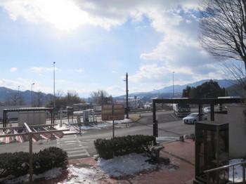 阿智PAには残雪がたっぷり