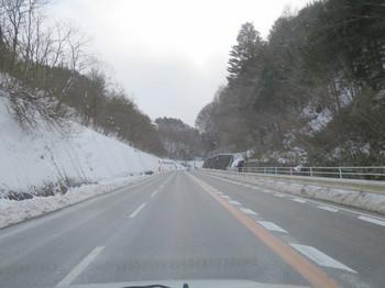 徐々に増える雪の量