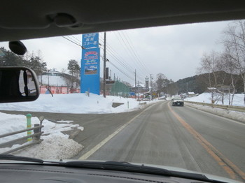 治部坂スキー場近くを通る