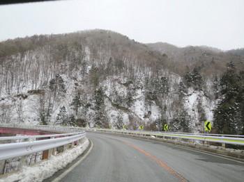 平谷村の雪景色
