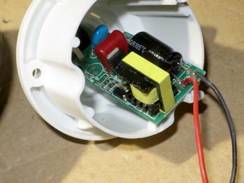 ランプ内部の電源回路基板