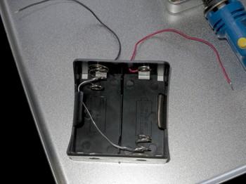 単一電池2本用を1本で使えるように改造したところ