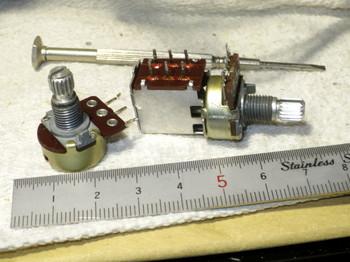 通常のボリウム(左)とスイッチ付きボリウム(右)