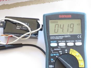 コイルタップの配線の抵抗は約半分