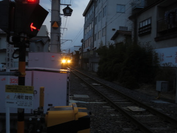 列車が近づく