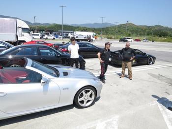 浜松SAに集まった参加車両
