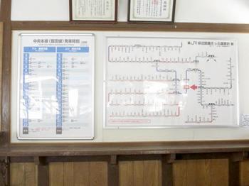 JR川岸駅の時刻表