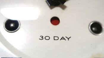 この時計は30日巻
