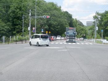 小牧東ICの交差点も渋滞