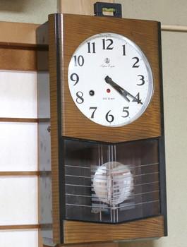 使い始めた振り子時計