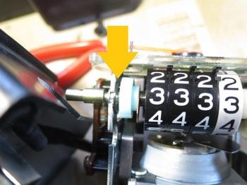 トリップメーターはEリングで固定されている