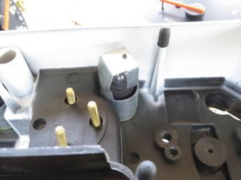 タコメーター照明は左上に一つ