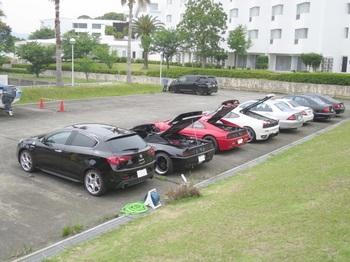 集まった参加車両