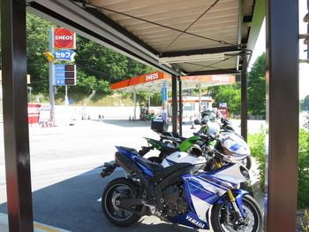 阿智PAに停車しているバイク達