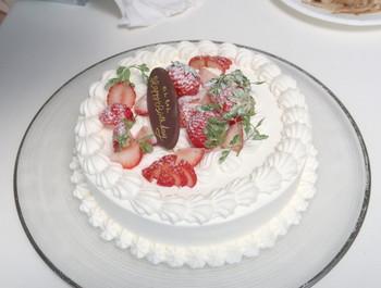 Nちゃんへバースデーケーキのプレゼント
