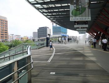 岐阜駅北口を出たところ
