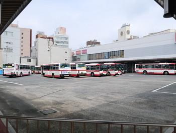 岐阜バスセンターを南端から見たところ