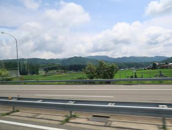 高速バスからの眺め