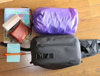 バッグに入れた荷物の一例