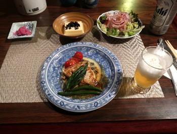 カルペデイムの夕食一品目は魚料理