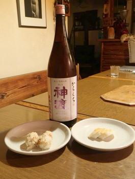 Oさん手作りのお寿司と日本酒・御渡