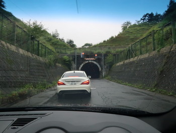 国道142のトンネル入口