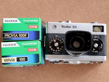持って行ったローライ35初期型とフィルム