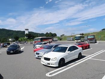 松代PAに集まった参加車両