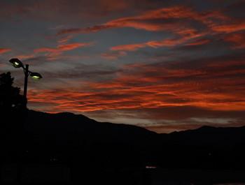 小黒川PAで見る夕焼け