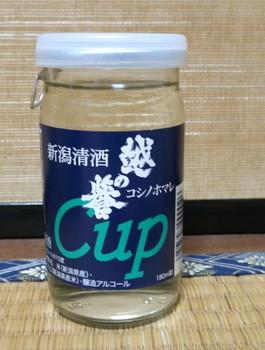 道の駅マリンドリーム能生で買ったカップ酒・越の誉