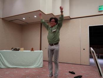 Tさんの喜びジャンプ
