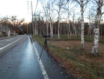 県道480で撮影する