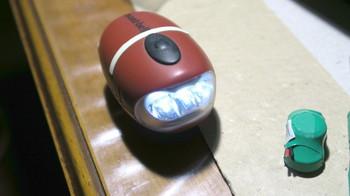 電気二重層コンデンサに交換したモンベルのライト
