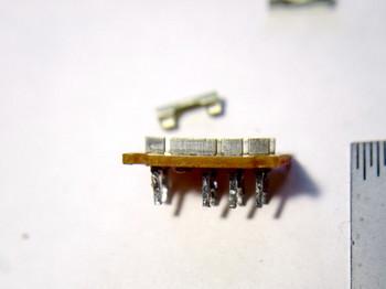 スイッチの接点を磨き折ったところ