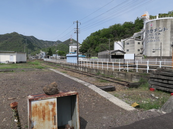 JR坂祝駅にある引込み線