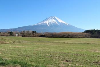 朝霧高原から見る富士山