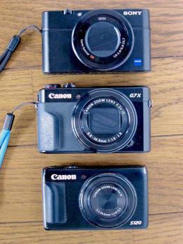 DSC-RX100M3、G7ZMark2、S120のコンデジ3台