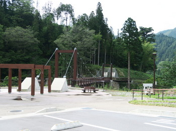 月瀬の大杉にかかる吊り橋