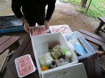 箱の中にはバーベキューに必要な物全てが入っている
