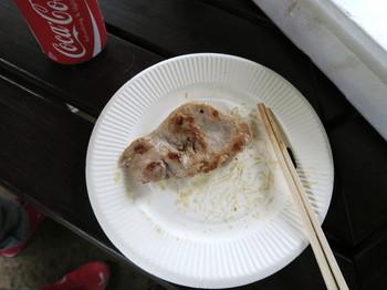 焼き上がった豚肉