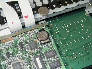 JP-8000の内部電池を交換したところ