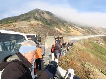 志賀高原・横手山ドライブインで撮影中